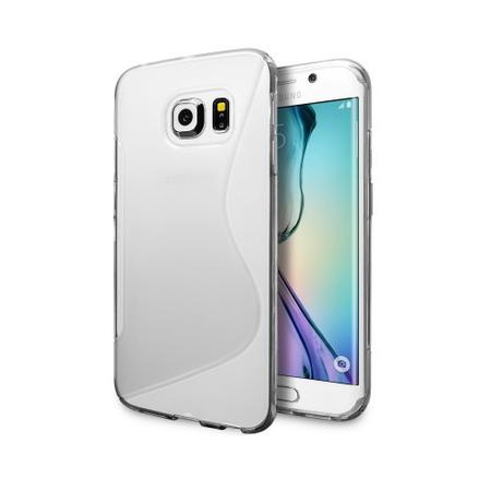 Samsung Galaxy S6 Edge S-Line Gummi TPU Silikon Clear Case Cover Hülle Klar TRANSPARENT