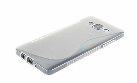 Samsung Galaxy A5 2015 S-Line Gummi TPU Silikon Clear Case Cover Hülle Klar TRANSPARENT – Bild 2
