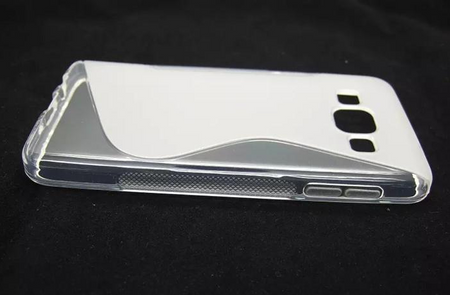 Samsung Galaxy A3 2015 S-Line Gummi TPU Silikon Clear Case Cover Hülle Klar TRANSPARENT – Bild 1