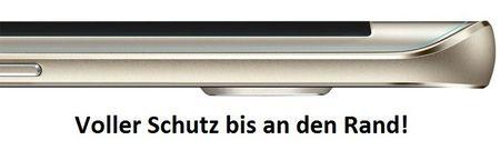 Samsung Galaxy S6 Edge ABGERUNDETE TPU Schutzfolie VORDERSEITE Ultra Clear – Bild 3