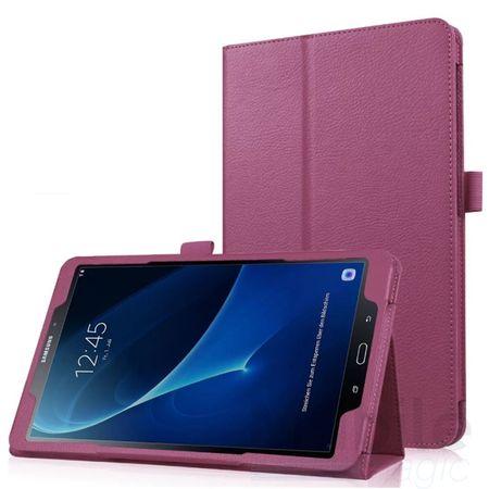 "Samsung Galaxy Tab E 9.6"" Leder Smart Case Cover Etui Hülle Tasche VIOLETT"