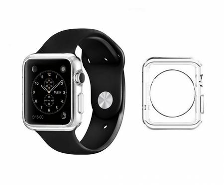 Apple Watch 38mm Series 1 / 2 Gummi TPU Silikon Crystal Clear Case Cover Hülle Klar TRANSPARENT – Bild 5