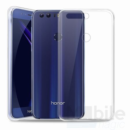 Huawei Honor 8 TPU Gummi Hülle Klar Silikon Crystal Clear Case TRANSPARENT