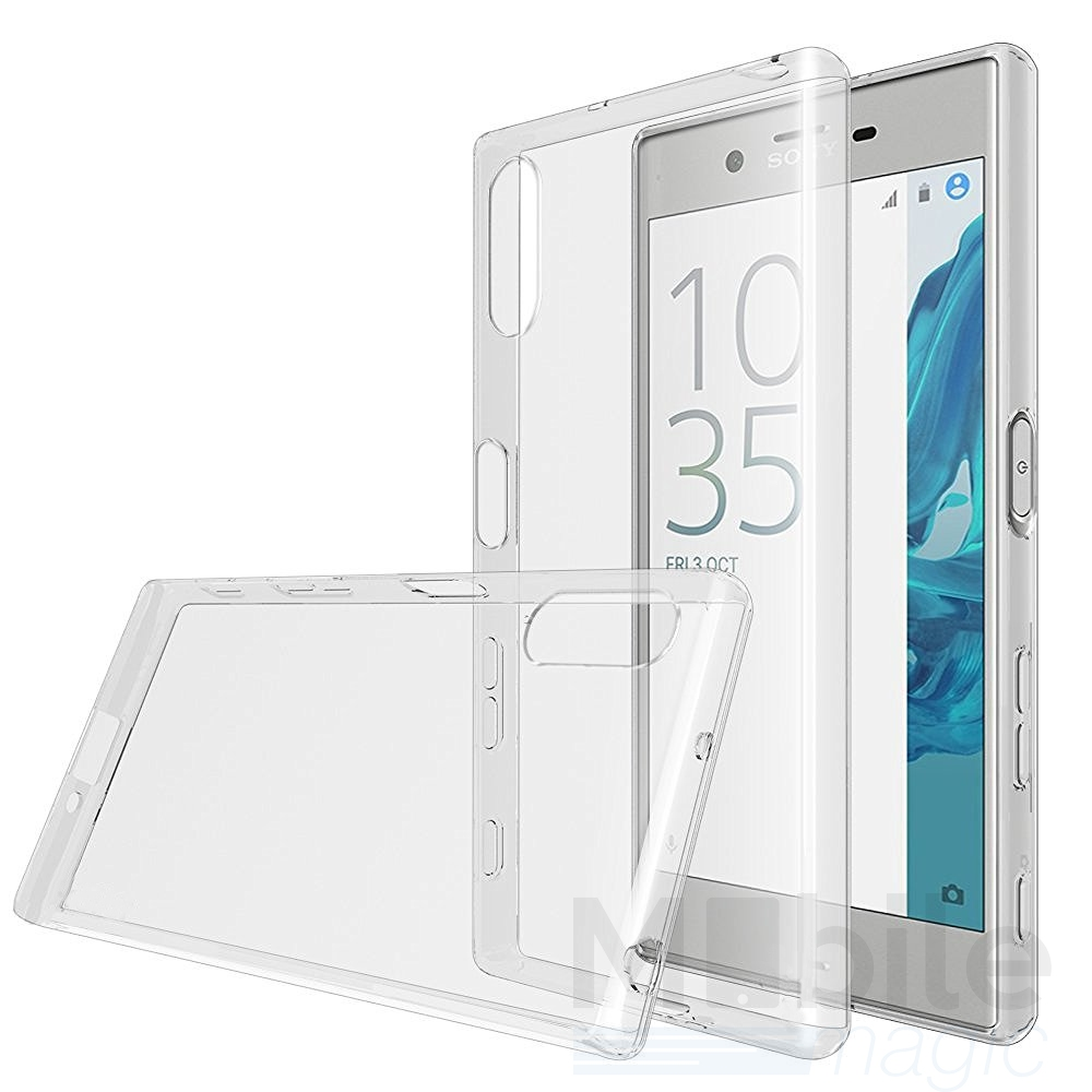 sony xperia x compact tpu gummi h lle klar silikon crystal. Black Bedroom Furniture Sets. Home Design Ideas