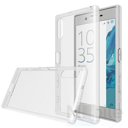 Sony Xperia X Compact TPU Gummi Hülle Klar Silikon Crystal Clear Case GRAU