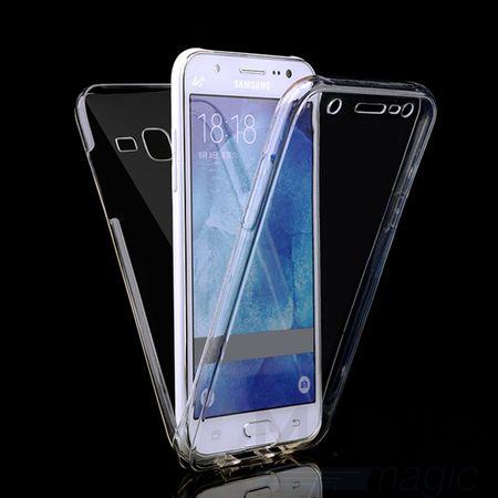 Samsung Galaxy J5 2016 TPU Gummi 360° Hülle RUNDUM Schutz Silikon Klar TRANSPARENT