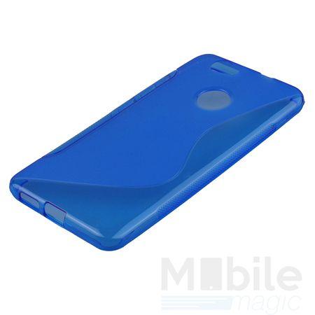 Huawei Nova S-Line TPU Gummi Silikon Case Welle Hülle BLAU