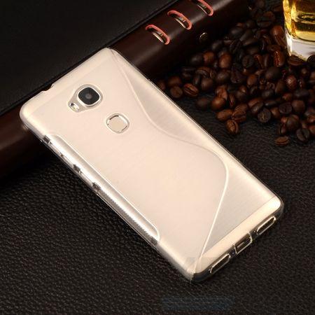 Huawei Honor 5C S-Line TPU Gummi Silikon Case Welle Hülle TRANSPARENT – Bild 1