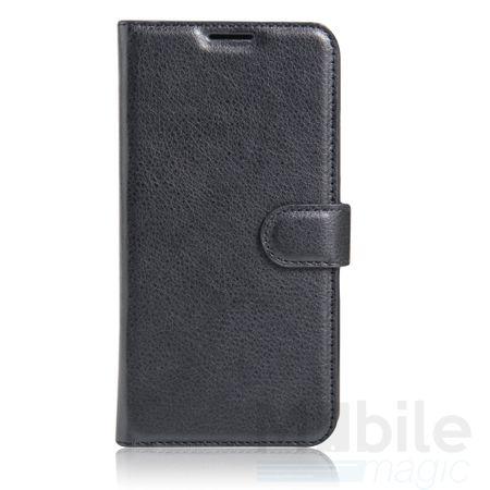 Sony Xperia X Compact Flip Etui Leder Case Tasche Hülle mit Kartenfach SCHWARZ – Bild 2