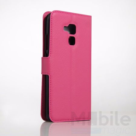 Huawei Honor 5C Flip Etui Leder Case Tasche Hülle mit Kartenfach PINK – Bild 4