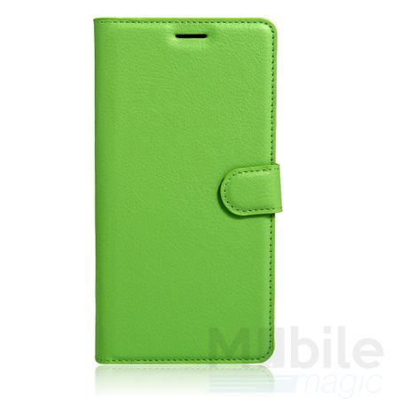 Sony Xperia X Flip Etui Leder Case Tasche Hülle mit Kartenfach GRÜN – Bild 1