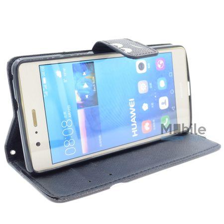 Huawei Nova DON'T TOUCH MY PHONE Leder Etui Flip Hülle Tasche Case SCHWARZ – Bild 2