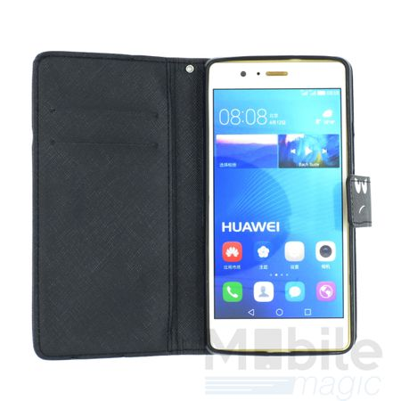 Huawei Honor 8 DON'T TOUCH MY PHONE Leder Etui Flip Hülle Tasche Case SCHWARZ – Bild 4
