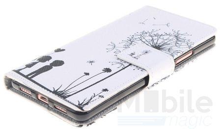 Huawei Honor 8 Pusteblume Junge & Mädchen Leder Etui Flip Hülle Case Tasche WEISS – Bild 2