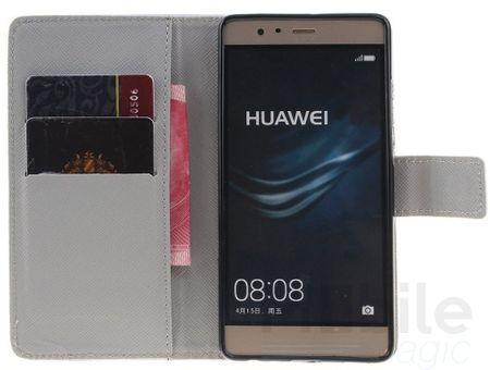 Huawei Honor 8 Pusteblume Junge & Mädchen Leder Etui Flip Hülle Case Tasche WEISS – Bild 3