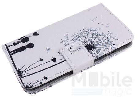 Sony Xperia X Compact Pusteblume Junge & Mädchen Leder Etui Flip Hülle Case Tasche WEISS – Bild 2