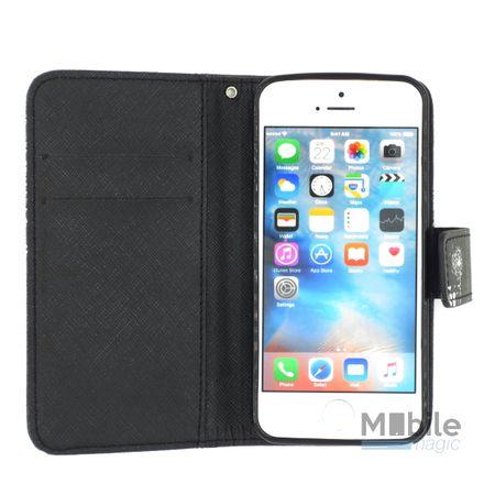 iPhone 7 Plus Pusteblume Junge & Mädchen Leder Etui Flip Hülle Case Tasche SCHWARZ – Bild 4