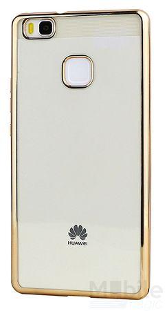 Huawei P9 Lite Metallic Gummi TPU Silikon Case Hülle Schutzhülle Cover Klar GOLD – Bild 1
