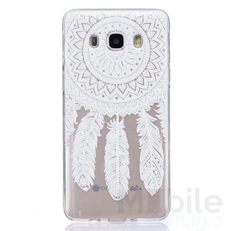 Samsung Galaxy J5 2016 Traumfänger Dreamcatcher Gummi TPU Silikon Case Hülle WEISS