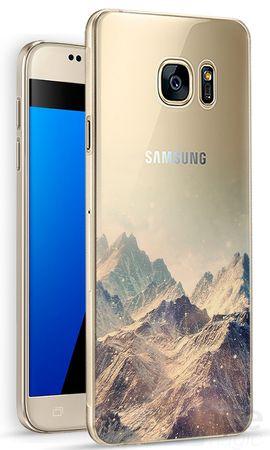 Samsung Galaxy S7 Edge Mountain Berg Gummi TPU Silikon Case Cover Hülle – Bild 1