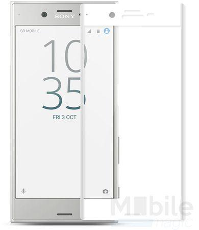 Sony Xperia XZ RANDLOS Panzerglas Glas Schutzfolie Schutzglas Curved Tempered Glass WEISS
