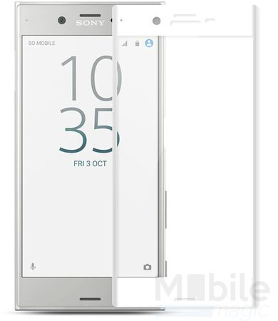 Sony Xperia XA RANDLOS Panzerglas Glas Schutzfolie Schutzglas Curved Tempered Glass WEISS