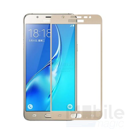 Samsung Galaxy J5 2016 RANDLOS Panzerglas Glas Schutzfolie Schutzglas Curved Tempered Glass GOLD