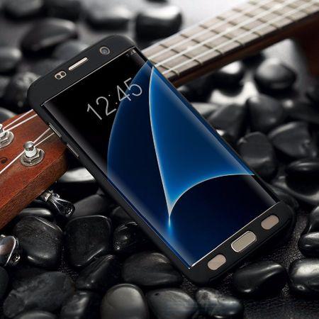 Samsung Galaxy S7 Komplett Schutz Case + Panzerglas Full Protection Cover Hülle SCHWARZ – Bild 2