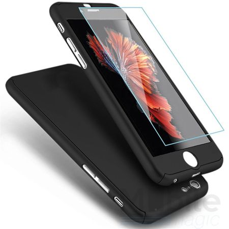 iPhone SE / 5S / 5 Komplett Schutz Case + Panzerglas Full Protection Cover Hülle SCHWARZ – Bild 2
