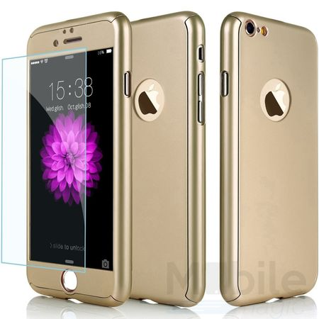 iPhone SE / 5S / 5 Komplett Schutz Case + Panzerglas Full Protection Cover Hülle GOLD – Bild 1