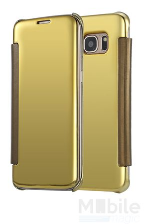 Samsung Galaxy A3 2016 Clear Window View Case Cover Spiegel Mirror Hülle GOLD