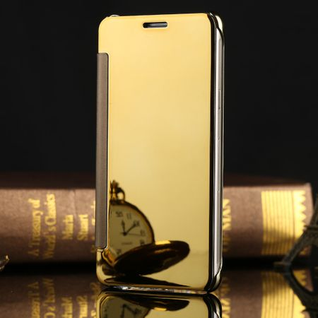 Samsung Galaxy J5 2016 Clear Window View Case Cover Spiegel Mirror Hülle GOLD – Bild 3