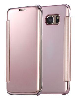 Samsung Galaxy A5 2016 Clear Window View Case Cover Spiegel Mirror Hülle ROSÉGOLD