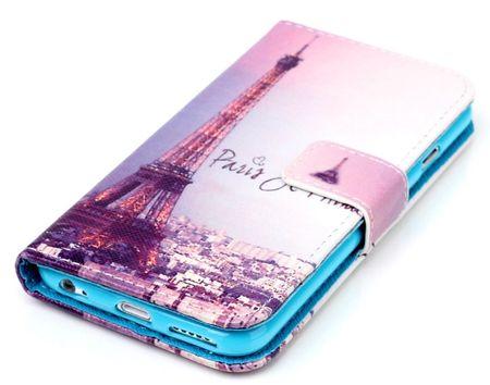 iPhone 7 Eiffelturm Paris Leder Etui Case Tasche Hülle Case PINK / VIOLETT – Bild 2