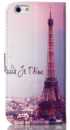 iPhone 7 Eiffelturm Paris Leder Etui Case Tasche Hülle Case PINK / VIOLETT – Bild 4