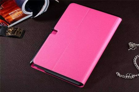 Samsung Galaxy Tab 4 10.1 Smart Flip Etui Hülle Leder Case Tasche PINK ROSA – Bild 3