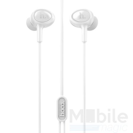 Hoco Pro In Ear Kopfhörer Headset 3.5mm mit Mikrofon und Fernbedienung WEISS – Bild 2