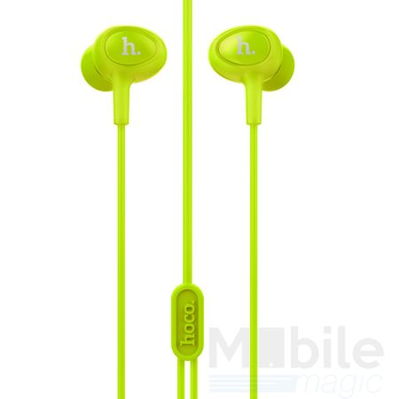 Hoco Pro In Ear Kopfhörer Headset 3.5mm mit Mikrofon und Fernbedienung GRÜN – Bild 2