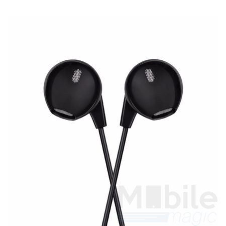 Hoco Basic In Ear Kopfhörer Headset 3.5mm mit Mikrofon und Fernbedienung SCHWARZ – Bild 2
