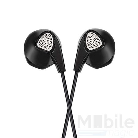 Hoco Basic In Ear Kopfhörer Headset 3.5mm mit Mikrofon und Fernbedienung SCHWARZ – Bild 4