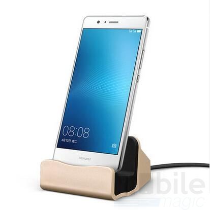Universal Metall Docking Station Alu Type-C USB Ladestation GOLD