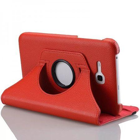 Samsung Galaxy Tab 3 Lite 7.0 360° Flip Etui Tasche Cover Leder Case ROT – Bild 2