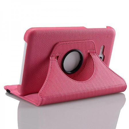 Samsung Galaxy Tab 3 Lite 7.0 360° Flip Etui Tasche Cover Leder Case PINK ROSA – Bild 1