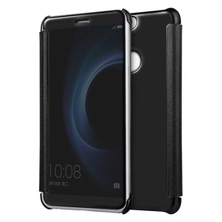 Huawei P9 Clear Window View Case Cover Spiegel Mirror Hülle SCHWARZ – Bild 1