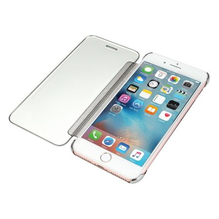 iPhone 7 Clear Window View Case Cover Spiegel Mirror Hülle SILBER – Bild 3