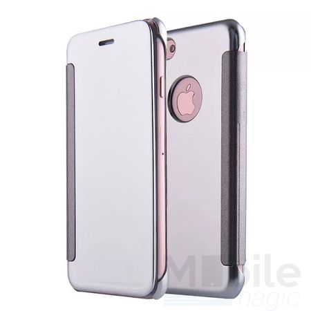 iPhone 6S Plus / 6 Plus Clear Window View Case Cover Spiegel Mirror Hülle SILBER