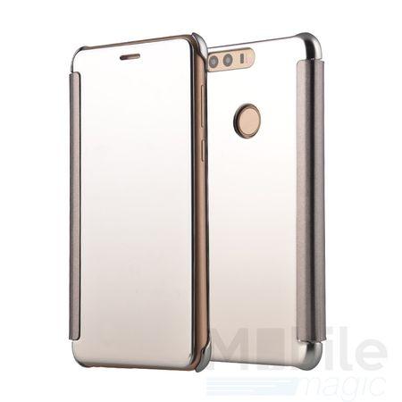 Huawei P9 Lite Clear Window View Case Cover Spiegel Mirror Hülle SILBER – Bild 1
