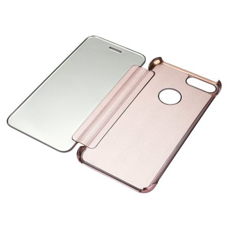 iPhone 7 Plus Clear Window View Case Cover Spiegel Mirror Hülle ROSÉGOLD – Bild 3