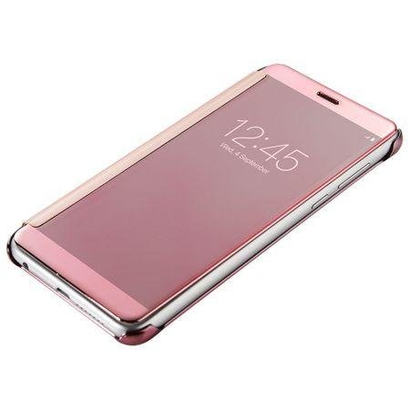 Huawei P9 Clear Window View Case Cover Spiegel Mirror Hülle ROSÉGOLD – Bild 3