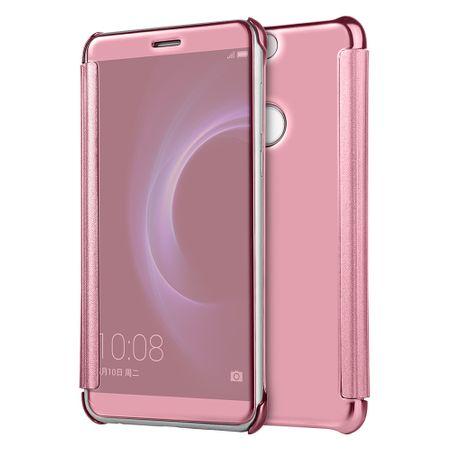 Huawei P9 Clear Window View Case Cover Spiegel Mirror Hülle ROSÉGOLD – Bild 1